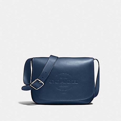 COACH F86778 HUDSON MESSENGER IN NATURAL SMOOTH LEATHER ANTIQUE-NICKEL/MIDNIGHT