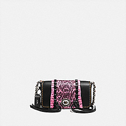 DINKIER WITH WHIPSTITCH SNAKESKIN - F86819 - BLACK/NEON PINK/LIGHT ANTIQUE NICKEL