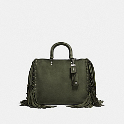 COACH F86824 Rogue With Fringe FERN/LIGHT ANTIQUE NICKEL