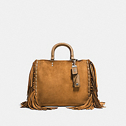 COACH F86824 Rogue With Fringe OAK/LIGHT ANTIQUE NICKEL