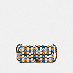 COACH F86831 Dinky With Colorblock Coach Link CHALK MULTI/BLACK COPPER