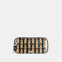 DINKY WITH COLORBLOCK COACH LINK - F86831 - BLACK/FERN/LIGHT ANTIQUE NICKEL