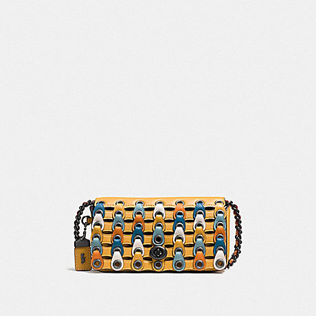 COACH F86832 DINKIER WITH COLORBLOCK COACH LINK BP/GOLDENROD-MULTI
