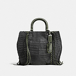 COACH F86837 - ROGUE WITH WHIPSTITCH CROCODILE BP/DARK MOSS BLACK