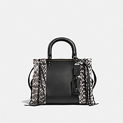 COACH F86839 - ROGUE 25 WITH WHIPSTITCH SNAKESKIN BP/BLACK CREAM