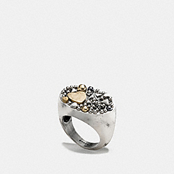 STUDDED CLUSTER RING - f87033 - SILVER/MULTI