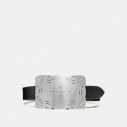 PLAQUE BUCKLE BELT, 40MM - F87054 - BLACK