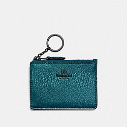 COACH F87077 Mini Skinny Id Case METALLIC MINERAL/DARK GUNMETAL
