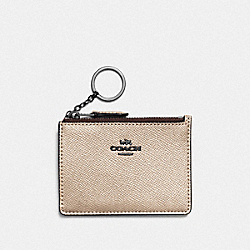 MINI SKINNY ID CASE - F87077 - GM/PLATINUM