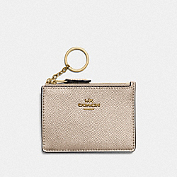 COACH F87077 Mini Skinny Id Case PLATINUM/LIGHT GOLD