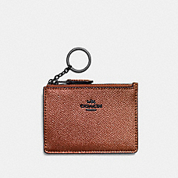 COACH F87077 Mini Skinny Id Case MW/METALLIC RUST