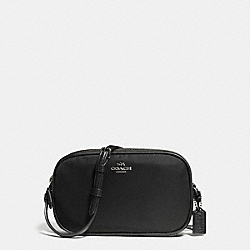 CROSSBODY POUCH IN NYLON - f87093 - ANTIQUE NICKEL/BLACK