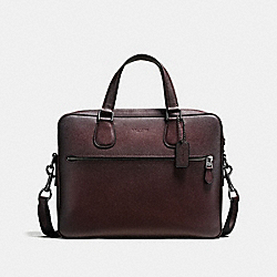 COACH F87099 Hudson 5 Bag BLACK ANTIQUE NICKEL/OXBLOOD