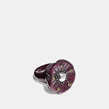 COACH F87156 TEA ROSE LUCITE RING ROSE