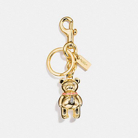 COACH F87166 3D BEAR BAG CHARM GOLD
