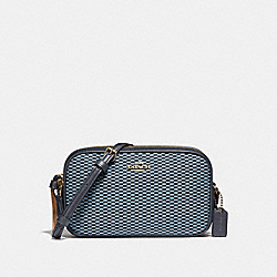 COACH F87217 - CROSSBODY POUCH BLUE/MULTI/LIGHT GOLD
