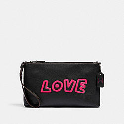 COACH F87228 - LARGE WRISTLET 25 QB/BLACK