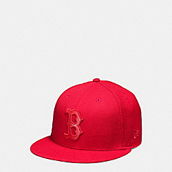 COACH F87250 Mlb Flat Brim Hat BOS RED SOX