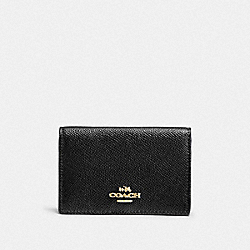 COACH F87254 - BUSINESS CARD CASE LI/BLACK