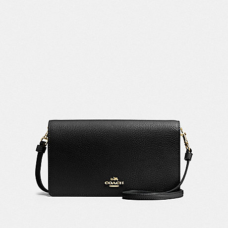 COACH F87401 HAYDEN FOLDOVER CROSSBODY CLUTCH LI/BLACK