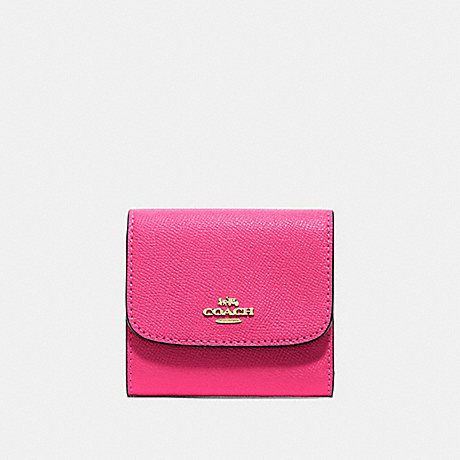 COACH F87588 SMALL WALLET PINK RUBY/GOLD