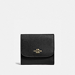 COACH F87588 - SMALL WALLET BLACK/LIGHT GOLD