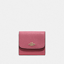COACH F87588 - SMALL WALLET PEONY/GOLD