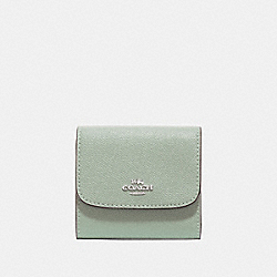 COACH F87588 Small Wallet PALE GREEN/SILVER