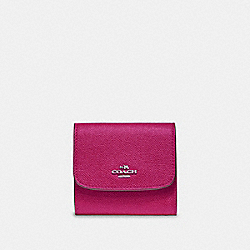 COACH F87588 - SMALL WALLET CERISE/SILVER