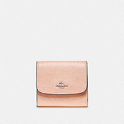 COACH F87588 Small Wallet SILVER/LIGHT PINK