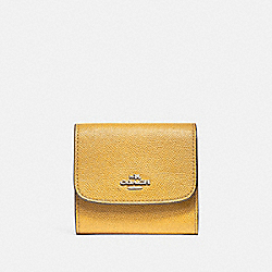 COACH F87588 - SMALL WALLET SILVER/CANARY 2