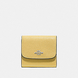 COACH F87588 - SMALL WALLET LIGHT YELLOW/SILVER