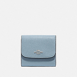 COACH F87588 Small Wallet SILVER/PALE BLUE