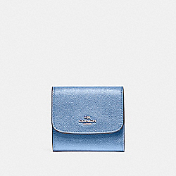 SMALL WALLET - F87588 - POOL/SILVER