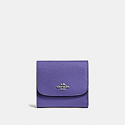 COACH F87588 Small Wallet SILVER/VIOLET