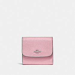 COACH F87588 - SMALL WALLET CARNATION/SILVER