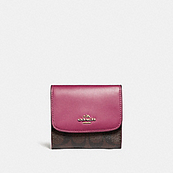 COACH F87589 Small Wallet LIGHT GOLD/BROWN ROUGE