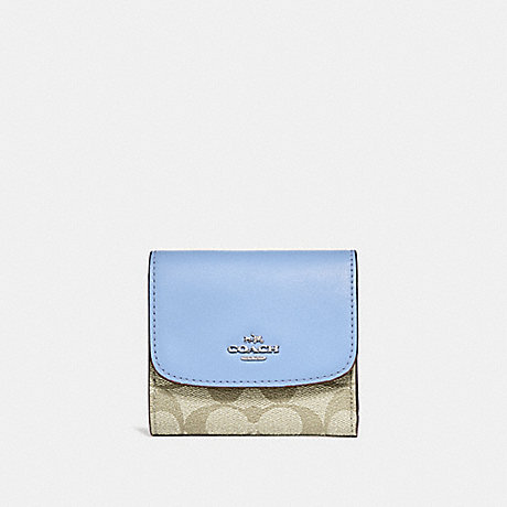 info for b48f6 a0550 COACH F87589 - SMALL WALLET IN SIGNATURE CANVAS - LIGHT ...