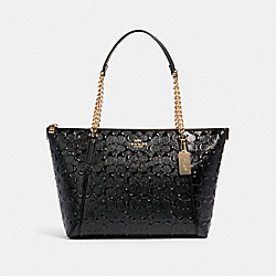 COACH F87673 - AVA CHAIN TOTE IN SIGNATURE LEATHER IM/BLACK