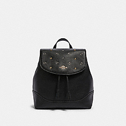 JADE BACKPACK WITH GROMMETS - F87675 - IM/BLACK