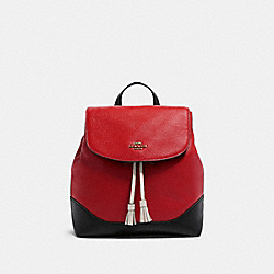 COACH F87676 Jade Backpack In Colorblock IM/BRIGHT RED MULTI
