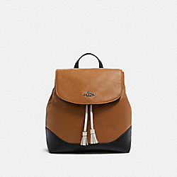 COACH F87676 Jade Backpack In Colorblock QB/LIGHT SADDLE MULTI