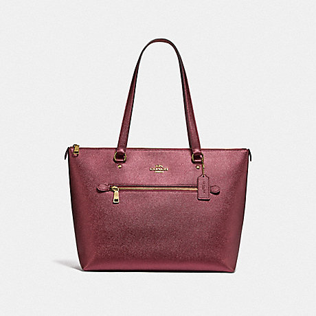 COACH F87684 GALLERY TOTE IM/METALLIC-WINE