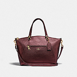 PRAIRIE SATCHEL - F87686 - IM/METALLIC WINE