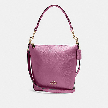 COACH F87691 MINI ABBY DUFFLE IM/METALLIC-BERRY