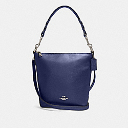 MINI ABBY DUFFLE - F87691 - SV/METALLIC BLUE