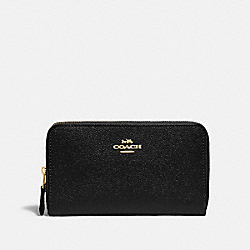 COACH F87735 Medium Zip Around Wallet IM/BLACK