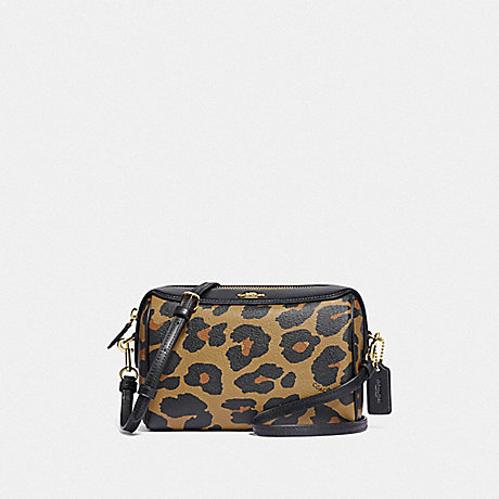 COACH F87753 BENNETT CROSSBODY WITH LEOPARD PRINT IM/NATURAL