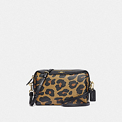 BENNETT CROSSBODY WITH LEOPARD PRINT - F87753 - IM/NATURAL