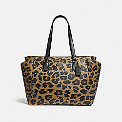 BABY BAG WITH LEOPARD PRINT - F87755 - IM/NATURAL
